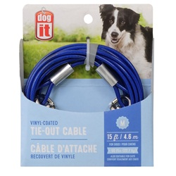 Dogit Pet Tether Dog Tie-out Cable - Blue - Medium - 4.5 m (15 ft)
