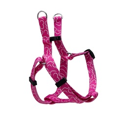 Dogit Style Adjustable Step In Dog Harness, Bones, Pink, Small