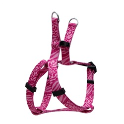 Dogit Style Adjustable Step In Dog Harness, Jungle Fever, Pink, X-Small