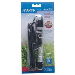 "Marina Submersible Aquarium Heater, Mini 25W, 15 cm (6"")"