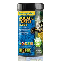 Exo Terra Aquatic Turtle Juvenile Floating Pellets - 3.1oz, 90g