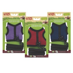 Living World Medium Harness and Lead Set, Assorted Colors