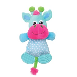 Dogit Stuffies Dog Toy - Plush & Crinkle Blue Reindeer - 20 cm (8 in)
