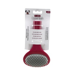 Le Salon Essentials Dog Rubber Slicker Brush, Large
