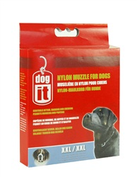 Dogit Nylon Dog Muzzle-Black-XXLarge (30cm)