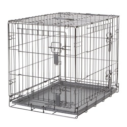 Dogit Two Door Wire Home Crates with divider - Small - 61 x 45 x 51 cm (24 x 17.5 x 20 in)