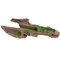 "Fluval Brown Driftwood Replica with Moss - Large 44 x 9 x 17 cm (17.3"" x 3.5"" x 6.7"")"