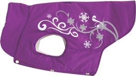 Dogit Style Winter 2010 Dog Clothing & Toy Collection - Winter Vest with Urban Print, Purple, Large