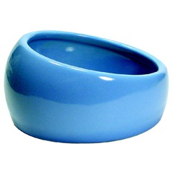 Living World Ergonomic Dish Large, 420 mL (14.78 oz) Blue/Ceramic