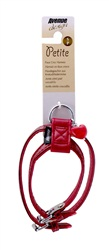 Avenue Petite Faux Croc Harness-Red, Extra Small
