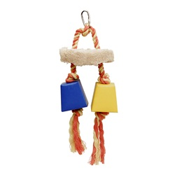 LW Festive Favors,Rope,Wood & Paper Box Toy, 23 cm