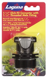 "Laguna 3.17 cm (1 1/4"") Click-Fit, 3.8 cm (1.5"") Threaded Male Fitting"
