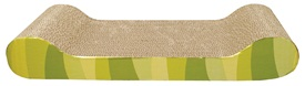 Catit Style Patterned Cat Scratcher with catnip - Jungle Stripes, Lounge