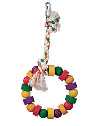 Living World Junglewood Bird Toy, Small Bead and Block Ring