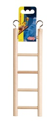 "Living World Wooden Bird Ladder 5 Steps  25 cm  (5.5"") Long"