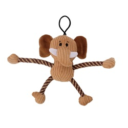 Zeus Mojo Naturals Pull-Thru Rope Pals - Elephant & Lion - Assorted - 18 cm (7 in)