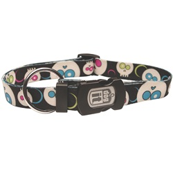 Dogit Style Nylon Print Dog Collar- Da Face, Black, XLarge
