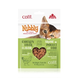 Catit Nibbly Cat Treats - Chicken & Liver Flavour - 90 g (3.2 oz)
