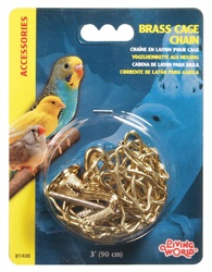 Living World Brass Cage Chain  90 cm (3 ft)