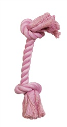 Dogit Dog Knotted Rope Toy, Pink Rope Bone, Medium