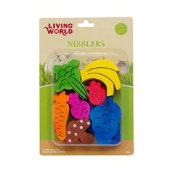 Living World Nibblers Wood Chews - Fruit/Veggie Mix