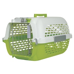 Dogit Voyageur Dog Carrier- Green/White, Small (48.3 cm L x 32.6 cm W x 28 cm H / 19in x 12.8in x 11in)