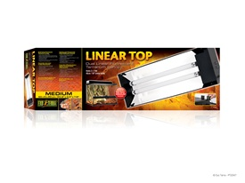"Exo Terra Linear Top - Medium - 23.6""- 60 cm - holds 2 x 15 W (18""/45 cm) Linear Tubes"