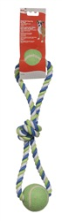 Dogit Dog Knotted Rope Toy, Multicoloured 2-Ball Looped Tug
