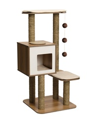 Vesper V-High Base - Walnut - 56 x 56 x 121.5 cm