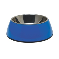 Dogit 2-in-1 Dog Dish, Large, Blue (1.6L / 54.1 fl oz)
