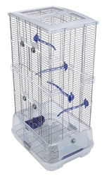 Vision Bird Cage for small birds (S02) - Small Wire, double height - 45.5 x 35.5 x 84.5 cm (18 L x 14 W x 33.25 in H)