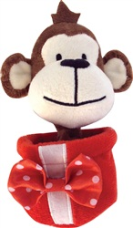 Dogit Christmas Luvz Dog Toy - Present Toy, Monkey