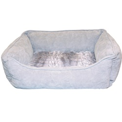 "Dogit Style Dog Rectangular Reversible Cuddle Bed-Wild Animal, Grey, Small. 58.4cm x 48cm x 23cm (23"" x 19"" x 9"")."