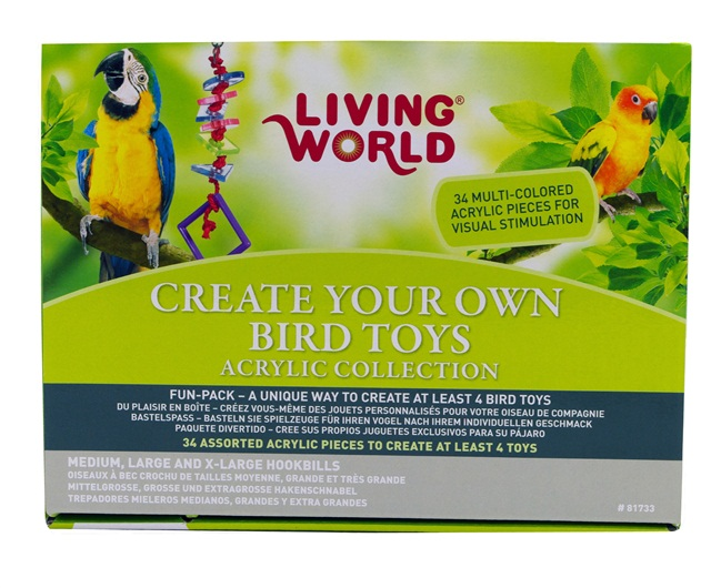 Make Your Own Bird Toys : Living world create your own bird toys acrylic