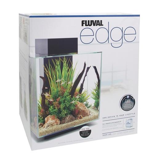 15392 fluval edge 12 gal aquarium set white for Aquarium edge