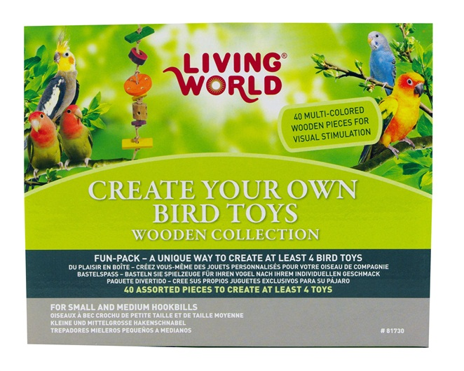 Make Your Own Bird Toys : Living world create your own bird toys wooden