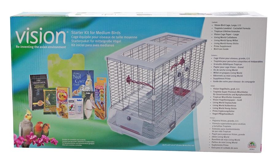 82963 Vision Starter Kit For Medium Birds Large Cage L11